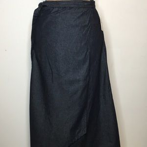 Gap 1969 Denim Wrap Skirt Womens XS Dark Rinse